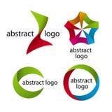 Samling av den abstrakta mångfärgade logoen Arkivfoton