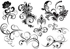 Samling av den blom- designen Arkivbild