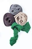 Samling av den färgrika halsduken Royaltyfria Bilder