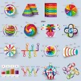 Samling av den infographic designmallen för vektor 3d Fotografering för Bildbyråer