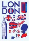Samling av den london uppsättningen Royaltyfri Bild