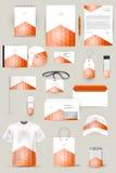 Samling av designbeståndsdelar för affär, advertizing eller visualization för företags identitet Royaltyfri Foto
