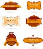 Samling av designelement och symboler Arkivbild