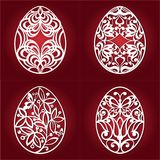 Samling av det easter ägget för laser-klipp vektor illustrationer