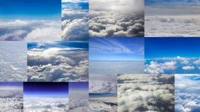 Samling av det flyg- molnet Fotografering för Bildbyråer