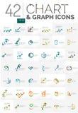 Samling av diagramlogoer Royaltyfria Bilder