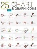 Samling av diagramlogoer Royaltyfria Foton