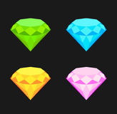 Samling av diamanter Arkivbild