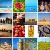 Samling av Egypten bilder Arkivfoto