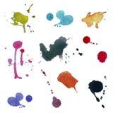 Samling av färgrika abstrakt vattenfärgbakgrunder Vektor, Fotografering för Bildbyråer