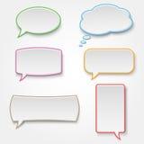 Samling av färgrika anförandebubblor Arkivfoto