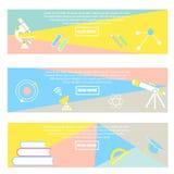 Samling av färgrika baner tillbaka till skolan vektor illustrationer