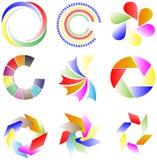 Samling av färgrika logoer Royaltyfri Bild