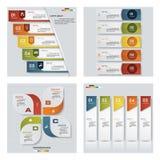 Samling av 4 färgrika presentationsmallar för design Det kan vara nödvändigt för kapacitet av designarbete Royaltyfria Foton
