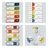 Samling av 4 färgrika presentationsmallar för design Det kan vara nödvändigt för kapacitet av designarbete Royaltyfri Fotografi