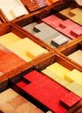 Samling av färgrika tvålar Royaltyfria Bilder