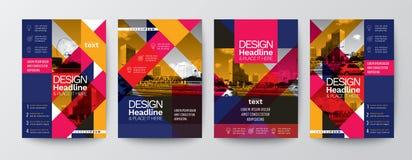 Samling av för affischreklamblad för modern design orientering t för räkning för broschyr royaltyfri bild