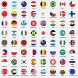 Samling av flaggaknappdesignen Royaltyfria Bilder