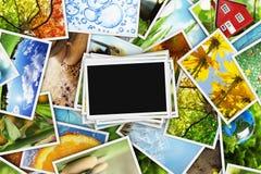 Samling av foto stock illustrationer