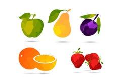 Samling av frukter. Stock Illustrationer