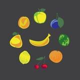 Samling av frukter Royaltyfri Fotografi