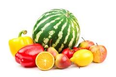 Samling av frukter och grönsaker arkivfoton