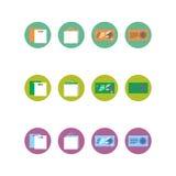 Samling av fyra olika kulöra symboler Arkivfoton