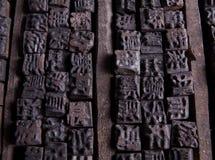 Samling av gamla kinesiska bokstavsfall Royaltyfria Foton