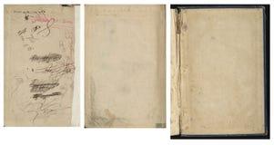Samling av gammalt tappningbokpapper Royaltyfria Foton