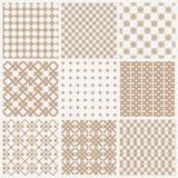 Samling av geometriska sömlösa modeller Royaltyfri Fotografi