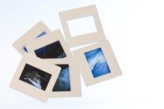 Samling av glidbanor Royaltyfria Bilder