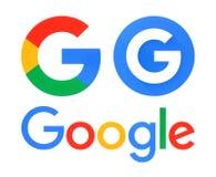 Samling av Google logoer Royaltyfri Foto