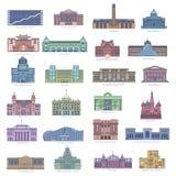Samling av gränsmärken för att resa och turism stock illustrationer