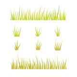 Samling av gräsmallar - gräsplan och guling Royaltyfria Bilder