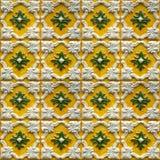 Samling av gulingmodelltegelplattor med lättnad Royaltyfria Foton