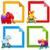 Samling av hälsningkort för ungar Arkivfoto