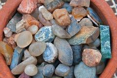 Samling av halv-dyrbara stenar Royaltyfri Bild
