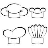 Samling av hattar för kock` s Arkivfoton