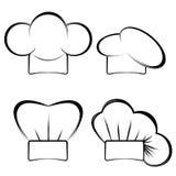 Samling av hattar för kock` s Royaltyfria Foton