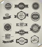 Samling av högvärdiga kvalitets- etiketter Arkivbilder