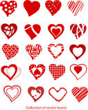 Samling av hjärtor Arkivfoton