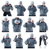 Samling av hockeydomaregester Arkivfoto