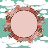 Samling av hustappning på himmelbakgrund Royaltyfria Foton
