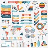 Samling av infographfolkbeståndsdelar för affär också vektor för coreldrawillustration Infographic pictograms Infographs och Arkivbilder