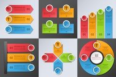 Samling av infographic designbeståndsdelar för affär stock illustrationer