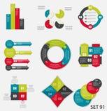 Samling av Infographic mallar för affär Royaltyfria Foton
