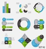 Samling av Infographic mallar för affär Royaltyfri Foto