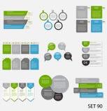 Samling av Infographic mallar för affär Arkivfoto