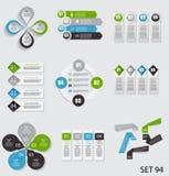 Samling av Infographic mallar för affär Arkivbild