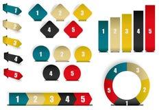 Samling av infographicsbeståndsdelar Royaltyfri Bild